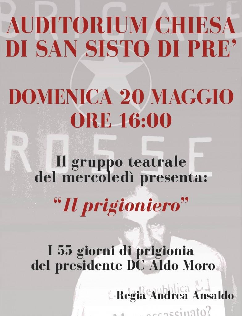 Auditorium chiesa di San Sisto di Prè di Genova 55 giorni prigionia Aldo Moro