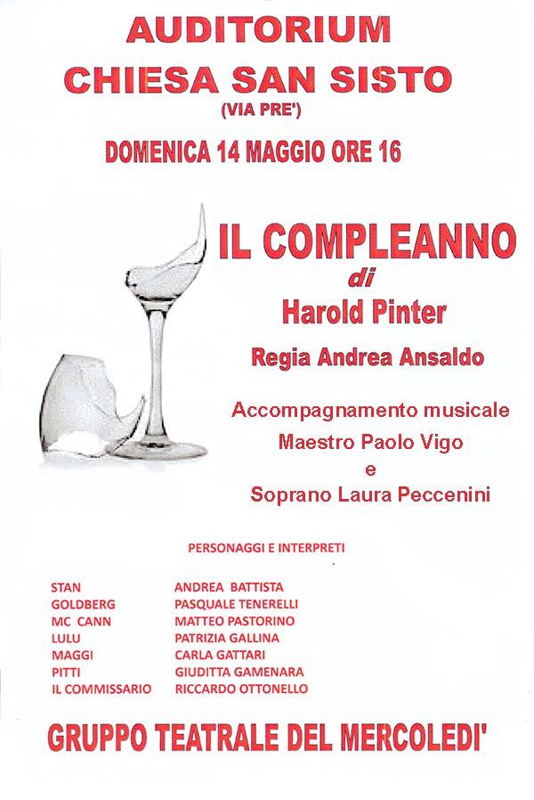 il compleanno di Harold Pinter parrocchia di San Sisto Genova teatro